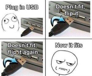 USB Drehen